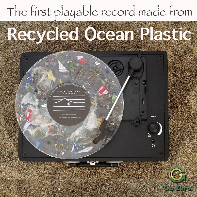 The first playable record made from recycled ocean plastic